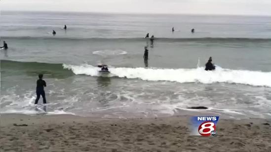 Special needs surfers hit the waves