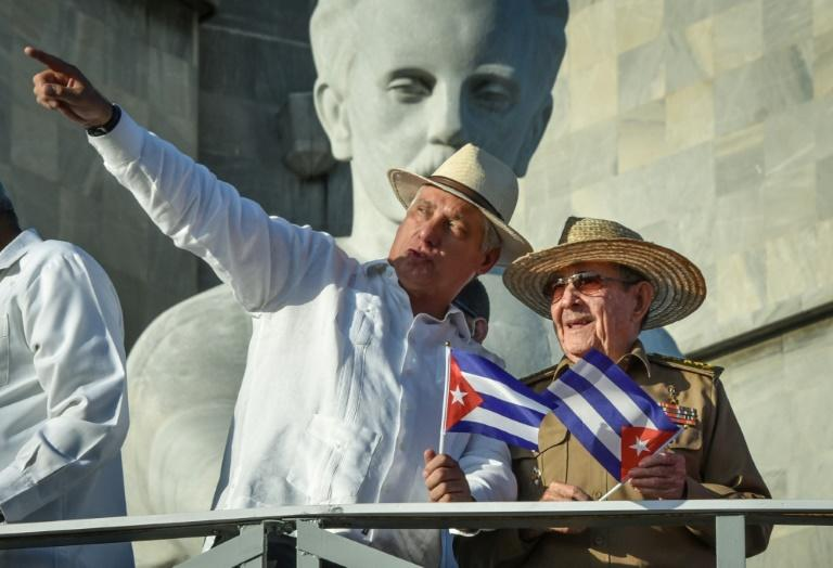 Cuba President Miguel Diaz-Canel (left) and Communist Party First Secretary Raul Castro will be involved in naming a prime minister
