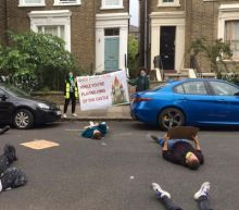 Activists stage 'die in' protest outside Dominic Cummings' home in stand against Government's coronavirus response
