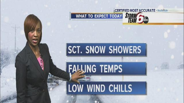 Friday's Forecast: More snow, falling temps in the 20s