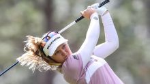 Canadian Brooke Henderson tied for the lead at LPGA major