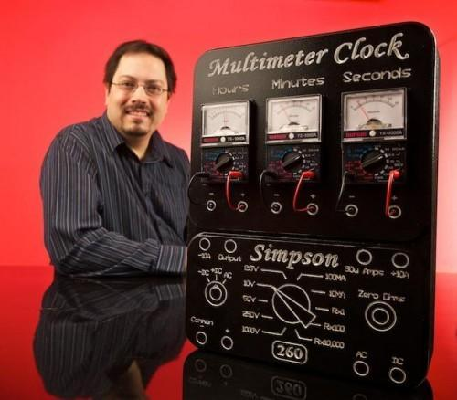 The multimeter clock doesn't fail to electrify us