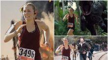 外國人妻跑5公里奪冠 老公出手改圖變《侏羅紀》