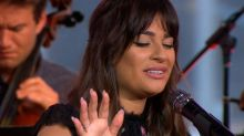 Lea Michele performs 'Run to You'