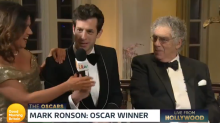Mark Ronson crashes 'Good Morning Britain' interview with his Oscar