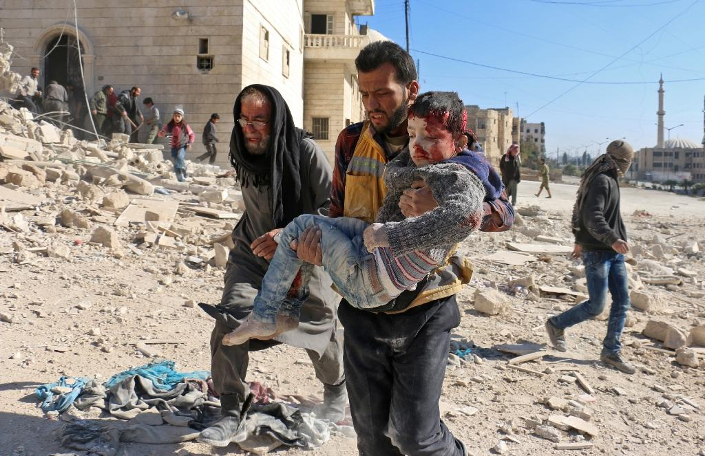 More than 320,000 people have been killed and millions displaced since the start of the Syrian conflict in March 2011 (AFP Photo/AMEER ALHALBI)