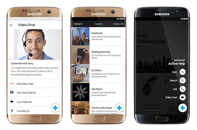 Samsung reps can remote control your S7 for troubleshooting