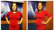 """Grávida, apresentadora responde telespectadora que a chamou de """"repugnante"""" por causa de suas roupas"""