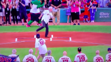 Red Sox fan gives us the best and most hilarious first pitch ever