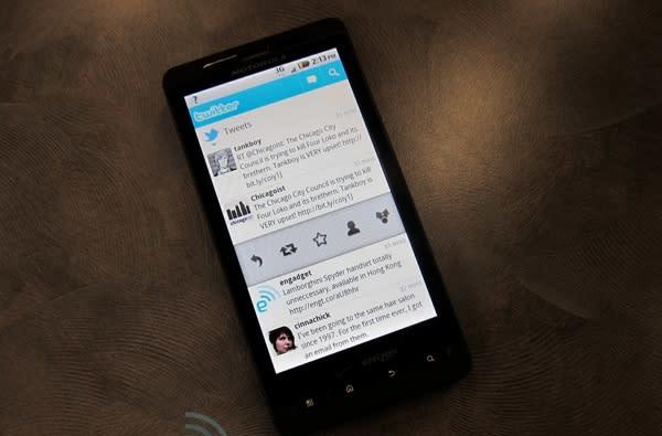 Twitter for Android updated, adds speed, polish, more options