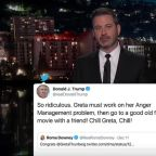 Kimmel Puts 'Rotting Yam' Trump on Blast for Mocking Greta Thunberg