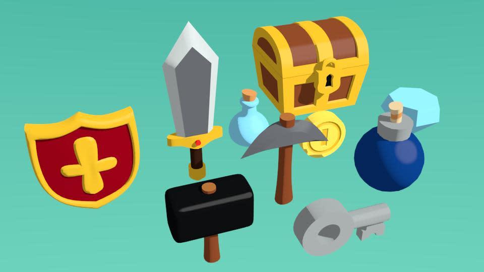 遊戲中的道具模型。(圖源:Twitter/SquareAnon)