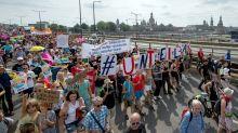 Großer Andrang bei «Unteilbar»-Demo in Dresden