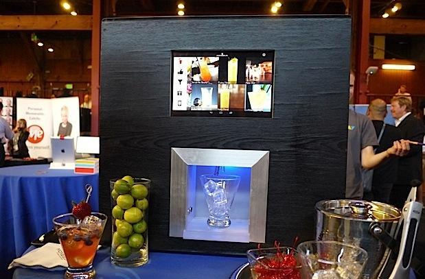 Monsieur robotic bartender automates mixed drinks with a tap of a finger
