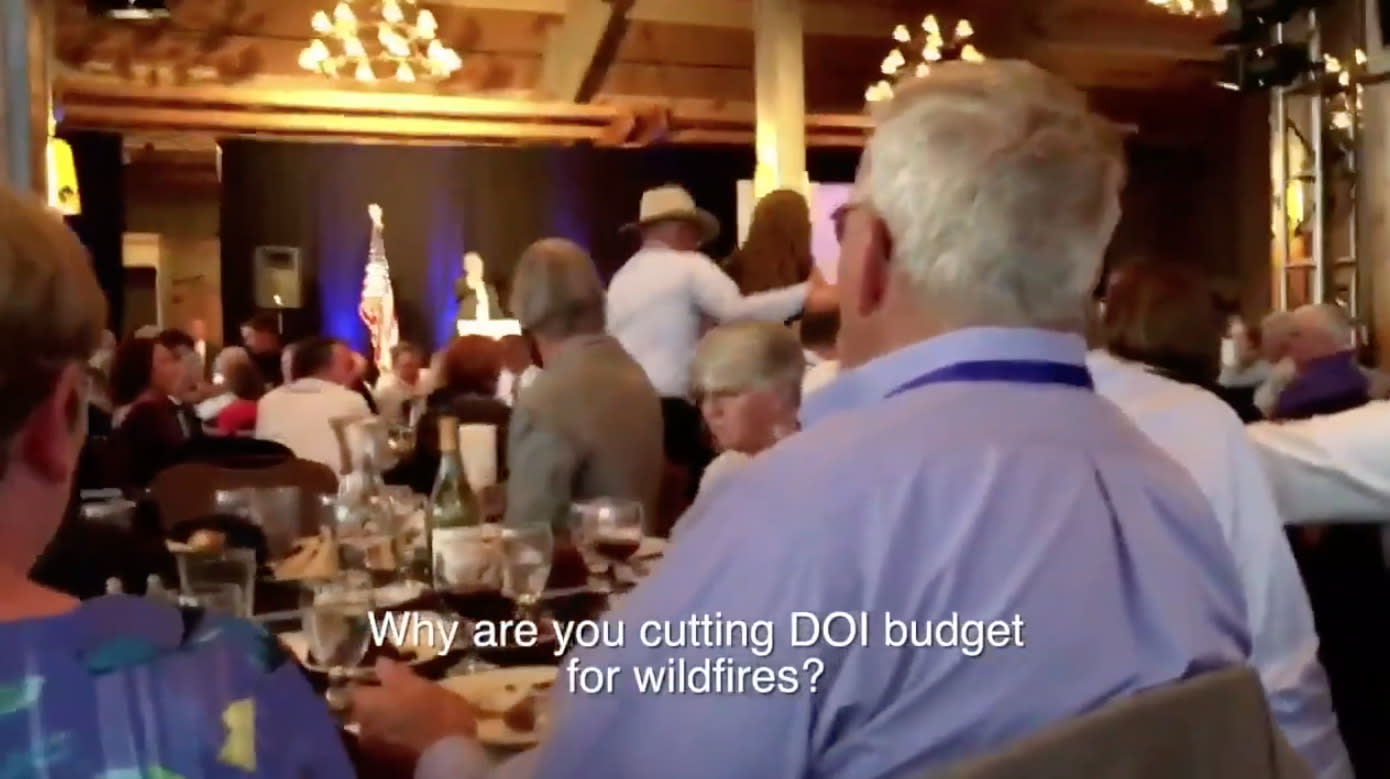 Protester Confronts Zinke On Climate Change, He Snaps: 'You Haven't Served'