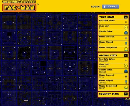 The World's Biggest Pac-Man game takes over the internet, your life