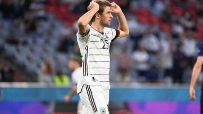Foot - Euro - ALL - Thomas Müller (Allemagne) toujours à l'écart avant d'affronter la Hongrie à l'Euro
