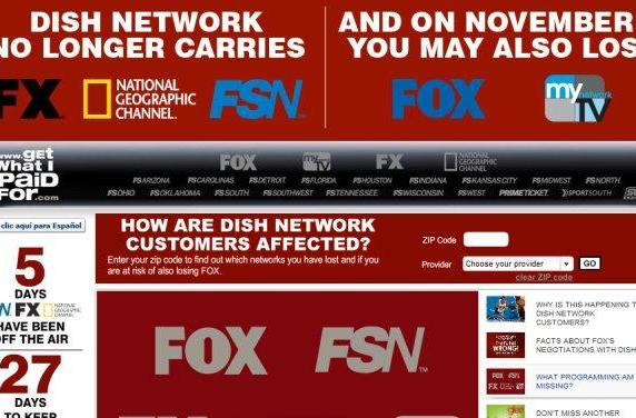 Fox, Dish play the blame game over disappearing FX, sports networks