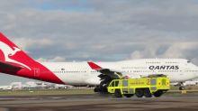 Qantas Boeing 747 Leaves Sydney on Farewell Flight