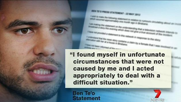 Ben Te'o rejects allegations