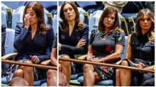 Princess Mary appears unimpressed as she sits near Melania during Trump's U.N. speech