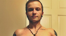 The inspiring reason transgender man shares images of his taped back breasts online
