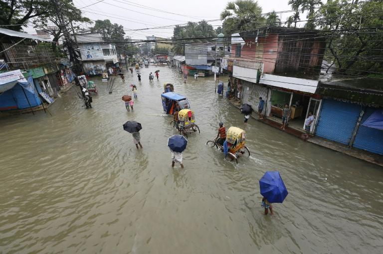 Almost a third of Bangladesh was underwater, officials said (AFP Photo/Sultan Mahmud)