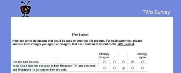 TiVo survey hints at new name, direction for Series4 boxes
