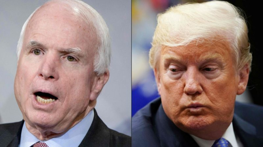 Trump renews attacks on John McCain