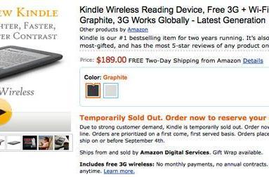 Amazon's third-generation Kindle 'temporarily sold out,' bookworms curse the universe