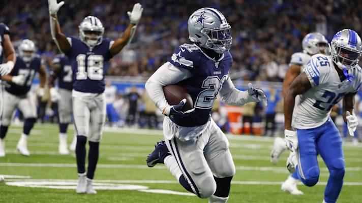 Ezekiel Elliott scores, channels Dak dance for his celebration