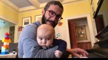 Dad Plays 'Winter Cold Blues' to Keep His Infant Son Calm