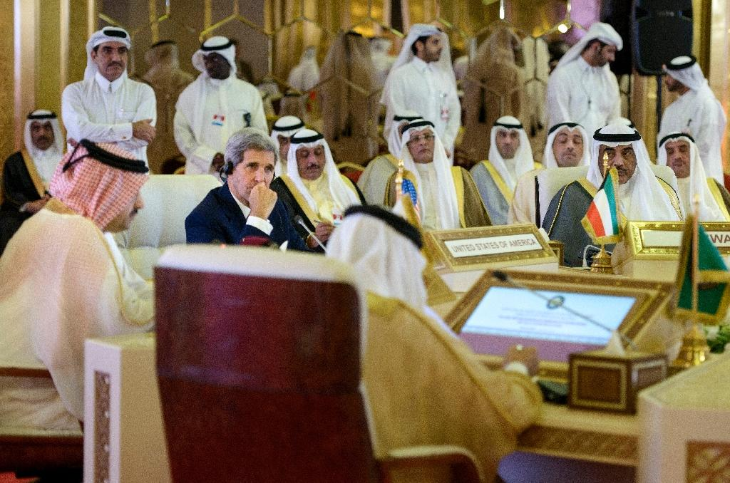 US Secretary of State John Kerry (2ndL) attends a meeting of foreign ministers of the Gulf Cooperation Council on August 3, 2015 in Doha, Qatar