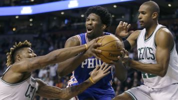 Embiid talks trash after 76ers rally past Celtics