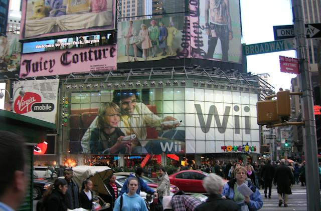 Wii advertisement New York City style