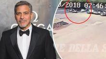 Shocking footage released of George Clooney's motorcycle crash