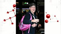Matt Damon Sports 'Twinkle Toes' Glitter Backpack