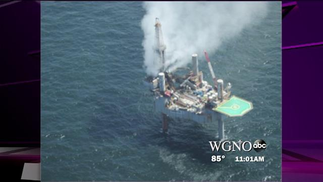 No word on status of blown out natural gas platform in the Gulf