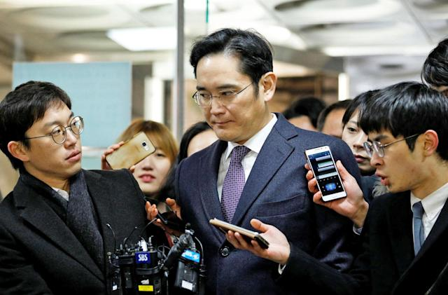 Samsung's South Korean leader has been arrested for bribery