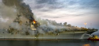 Sailor charged with setting fire that destroyed warship