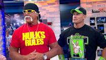 Hulk Hogan, John Cena Get 'GMA' Pumped for 'Wrestlemania'