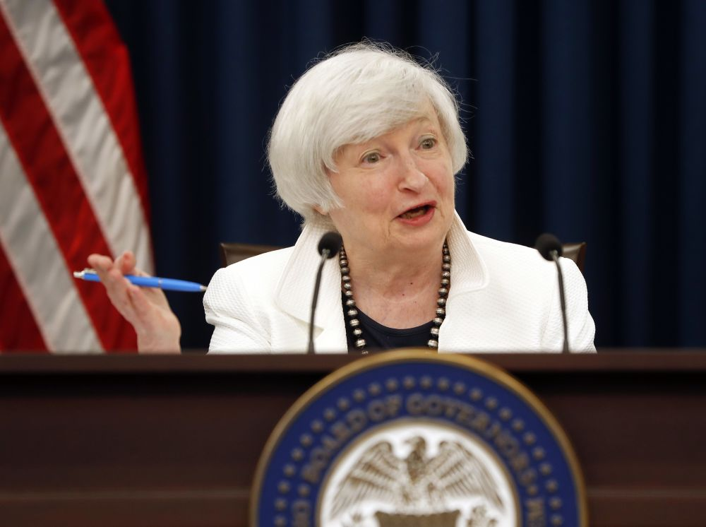 Fed Chair Janet Yellen speaks during a news conference following the Federal Open Market Committee meeting in Washington, Wednesday, Sept. 20, 2017. (AP Photo/Pablo Martinez Monsivais)