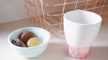 DIY mug tutorial: Marble-effect your tableware in 4 easy steps