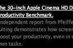 Want to be more productive? Get a 30 inch Apple Cinema Display