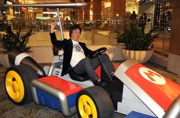 Caption Contest: Blue shells can't slow Miyamoto down