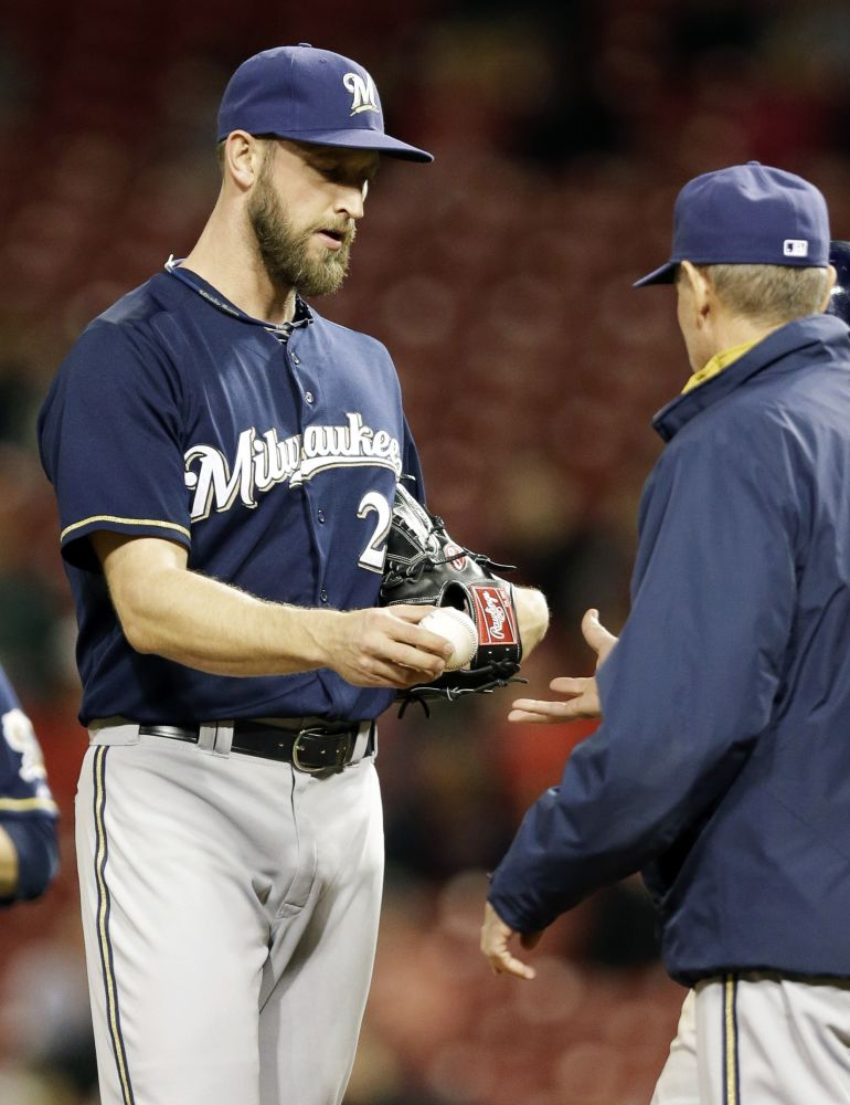 Brewers put reliever Henderson on DL
