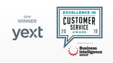 Yext Wins Organization of the Year in the 2019 Excellence in Customer Service Awards