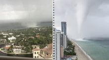 'Scared for my life': Water spout-turned tornado smashes beachfront homes