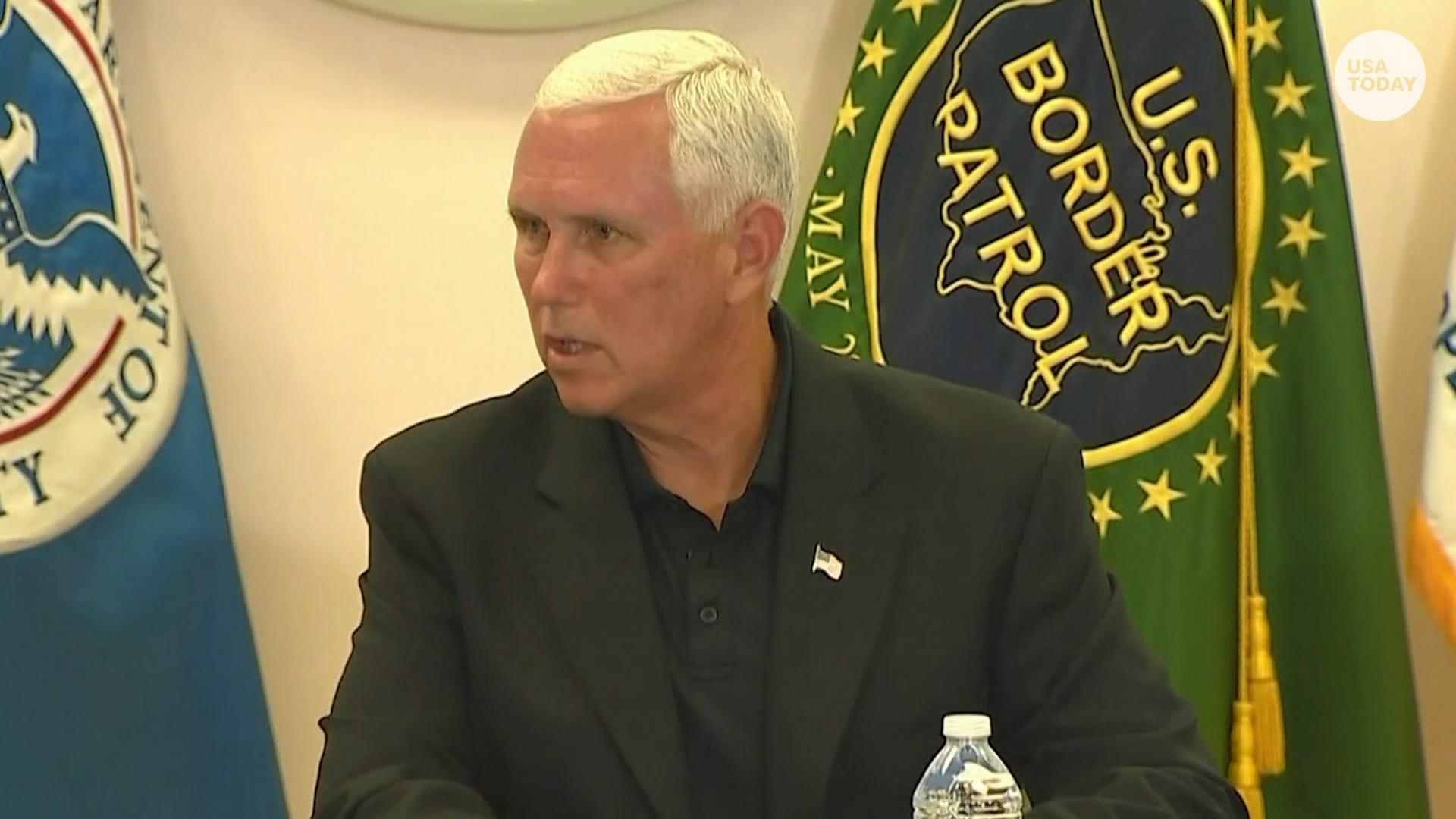 Mike Pence got a first-hand look at border detention facilities in McAllen and Donna, Texas. What he saw
