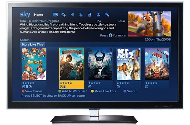 Latest Sky+ update helps you discover new movies